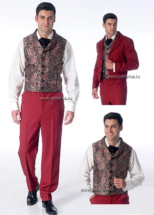 Выкройка McCall's — Мужской костюм: Пиджак, Жилет, Брюки - M7216