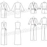 Выкройка McCall's — Платье и комбинезон с запахом - M7662