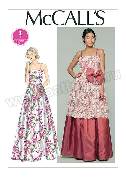Выкройка McCall's — Платье на тонких бретелях - M7568 ()