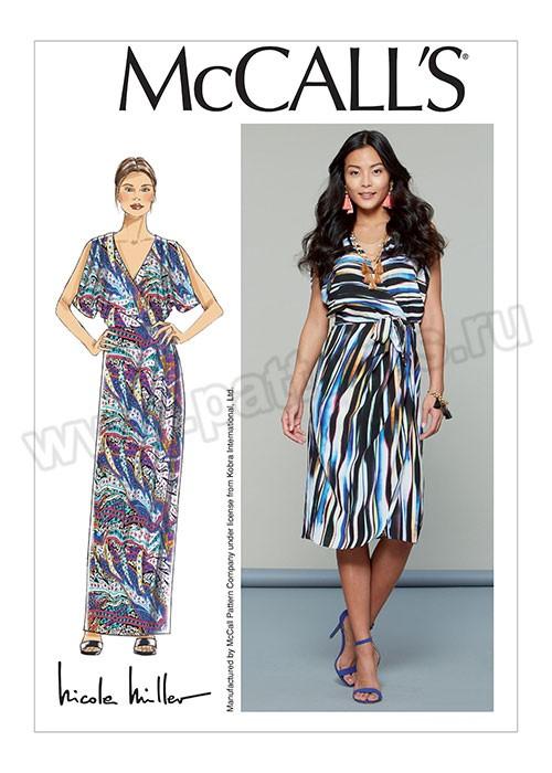 Выкройка McCall's — Платье с имитацией запаха - M7567 ()