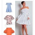 Выкройка McCall's — Платье с открытыми плечами - M7744