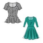 Выкройка McCall's — Платье, Топ с баской - M6754 ()