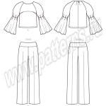 Выкройка McCall's — Пуловер с рукавом-реглан и прямые брюки на кокетке - M7580