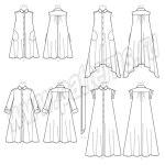 Выкройка McCall's — Рубашка-платье с рукавом различной длины и поясом - M7565