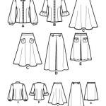 Выкройка Simplicity — Блузка, Юбка - S2758 ()