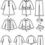 Выкройка Simplicity — Брюки, Куртка, Пальто, Шляпы - S2526