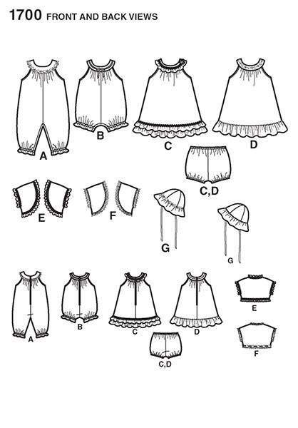 Выкройка Simplicity — Детский комплект - S1700