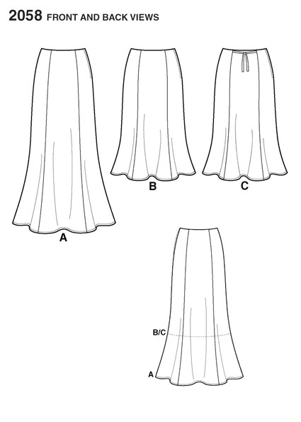 Выкройка Simplicity — Юбка - S2058