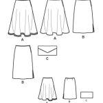 Выкройка Simplicity — Юбка, Кошелек - S2906 ()