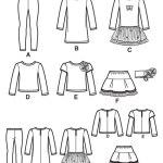 Выкройка Simplicity — Кофта, Леггинсы, Юбка - S1785