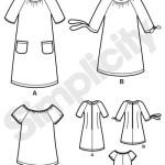 Выкройка Simplicity — Мини-Платье - S3835 ()