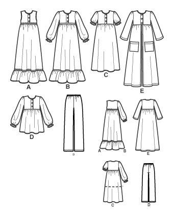 Выкройка Simplicity — Одежда для сна и отдыха - S3573 ()