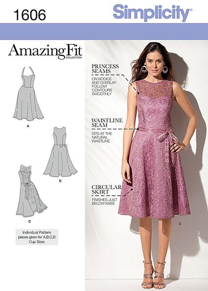 Выкройка Simplicity — Платье - S1606