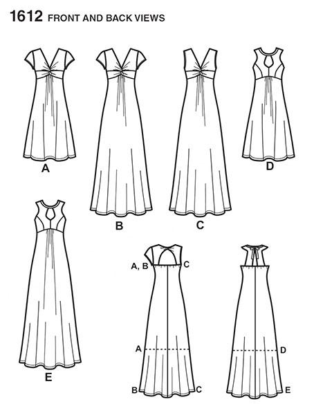 Выкройка Simplicity — Платье - S1612 ()