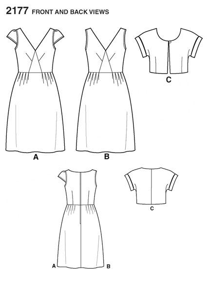 Выкройка Simplicity — Платье - S2177