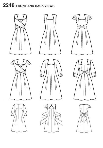 Выкройка Simplicity — Платье - S2248 ()