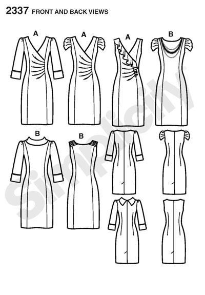 Выкройка Simplicity — Платье - S2337 ()