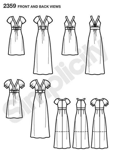 Выкройка Simplicity — Платье - S2359 ()