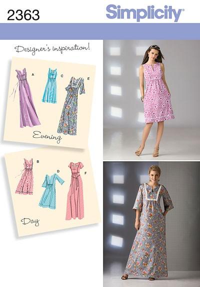 Выкройка Simplicity — Платье - S2363 ()