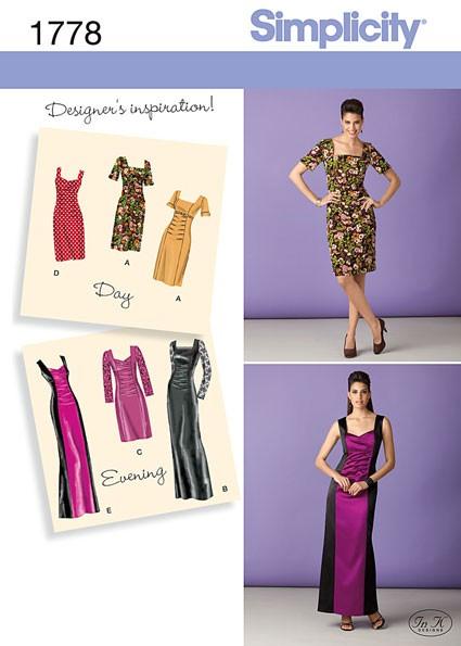 Выкройка Simplicity — Платье со сборками - S1778