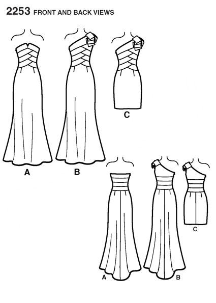 Выкройка Simplicity — Праздничное платье - S2253
