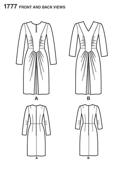 Выкройка Simplicity — Ретро 1943: Платье - S1777