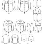 Выкройка Simplicity — Рубашка, Жилет - S4975