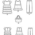 Выкройка Simplicity — Топ, Брючки, Платье, Сумочка - S1624