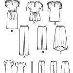 Выкройка Simplicity — Топ, Платье, Юбка, Брюки - S1619 ()