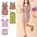 Выкройка Simplicity — Топ, Платье на кулиске, Шорты, Капри - S1625