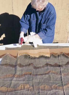 Окрашивание ткани отбеливателем