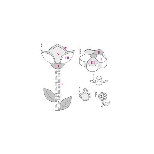 Выкройка Burda №9555 — Приданое для малыша: ростомер, подушка, игрушки