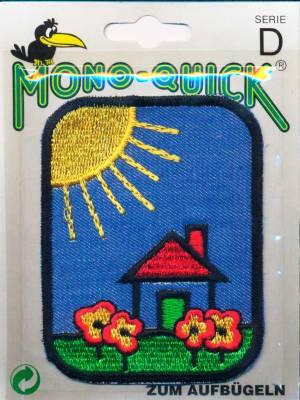 Термоаппликация Mono Quick (63793-9) – Заплатка детская джинсовая с вышивкой Домик