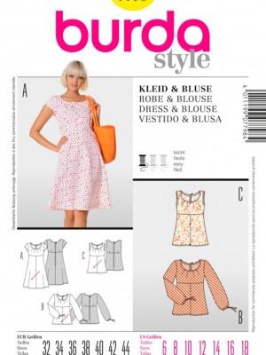 Выкройка BURDA №7798 — Платье, блуза