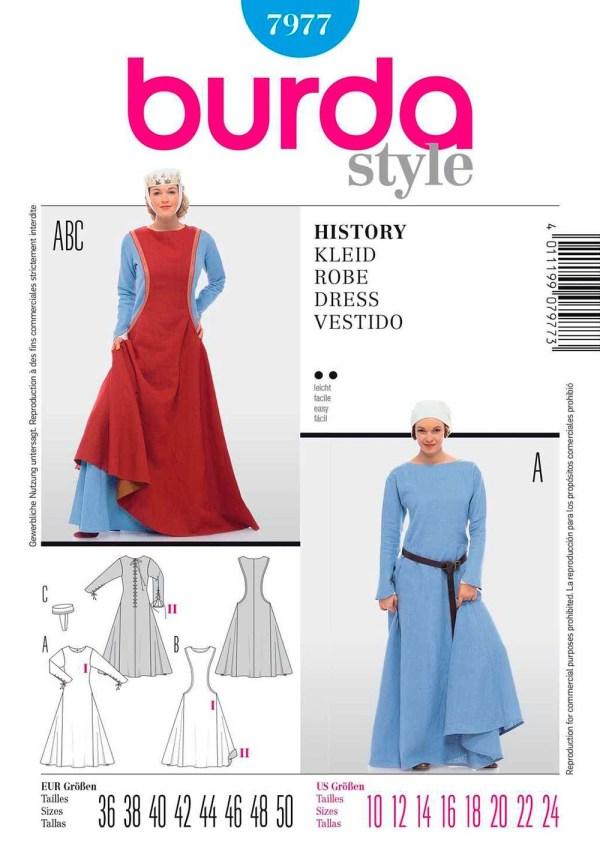 Выкройка BURDA №7977 — Историческое платье