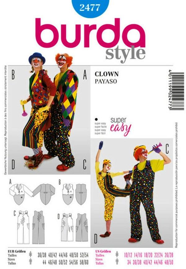 Выкройка Burda №2477 — Клоун