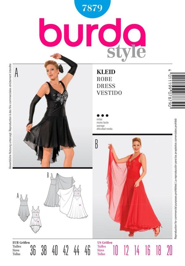 Выкройка Burda №7879 — Платье для бальных танцев
