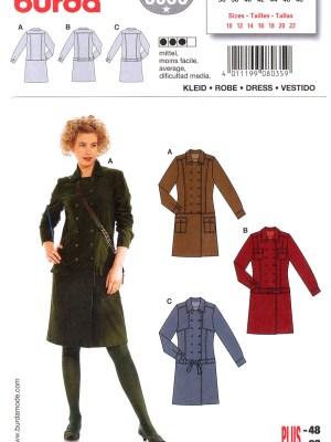 Выкройка BURDA №8035 — Платье