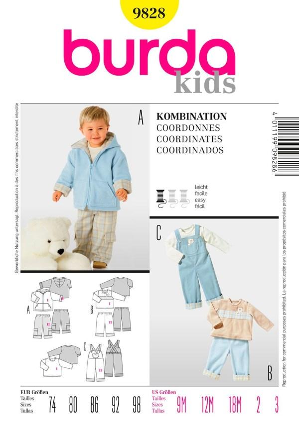 Выкройка Burda №9828 — Комплект для малыша