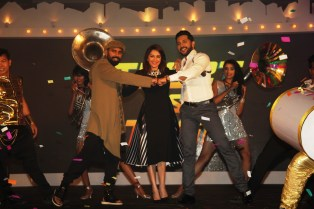 Bosco Martis, Madhuri Dixit and Terence Lewis at the launch of So You Think You Can Dance
