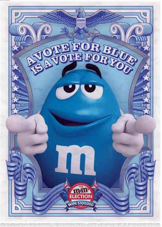 M&M blue