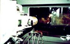 Zicht vanuit de cabine. Olympus Trip 35 met anonieme diafilm.