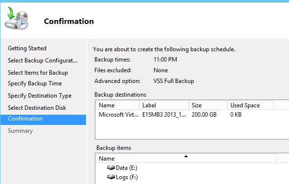 How To Backup Exchange 2013 Databases Using Windows Server