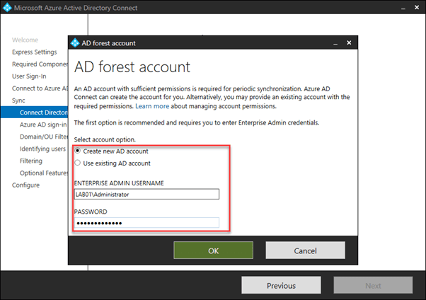 AD Forest Account