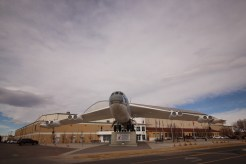 The B-52 that welcomes all to the Wings Over the Rockies Air and Space Museum