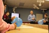 Balloons help demonstrate thrust.