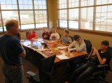 John with 8th graders in this year's glider program at Falcon Aero Lab Charter School.