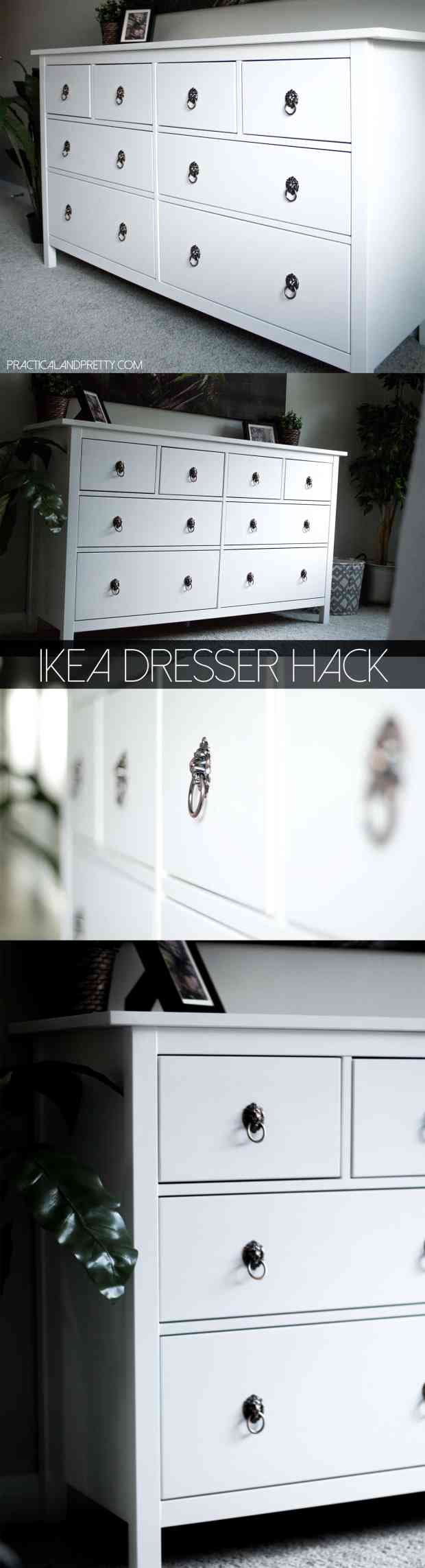 This IKEA dresser update is so easy and only requires one thing to make a huge impact!