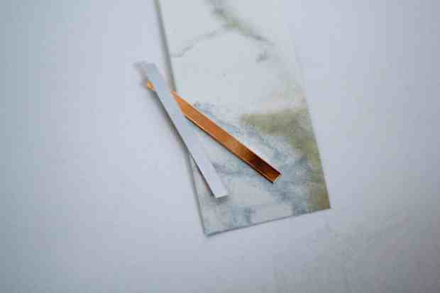 Easy DIY! Marble and leather bookmark. So simple and fun.