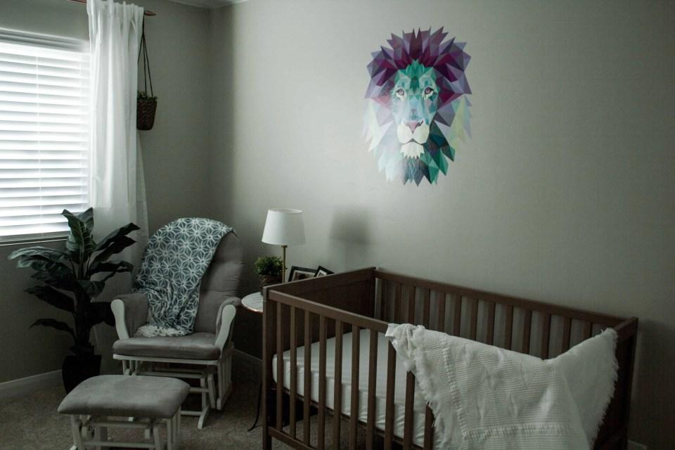 Neutral nature themed nursery